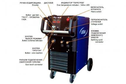 Сварочный MIG/MAG полуавтомат ALF-320