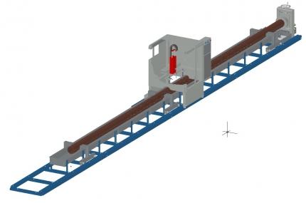 ЧПУ машины плазменной резки труб «Кристалл» с защитой внутренней поверхности трубы